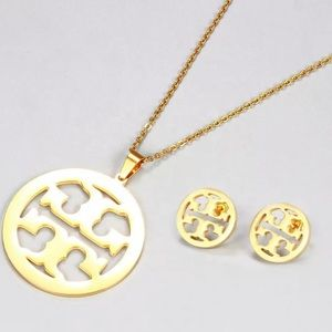 Tory Burch necklace and earring set